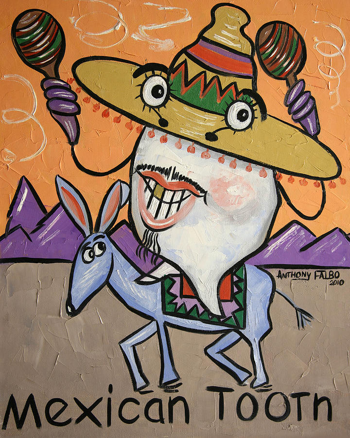 Mexican Tooth Framed Prints Painting - Mexican Tooth by Anthony Falbo