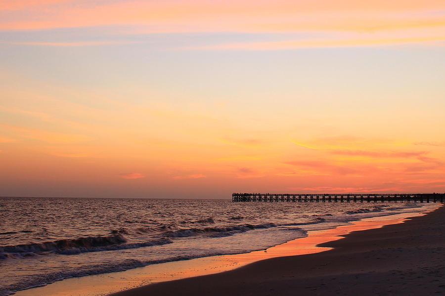 Sunset Photograph - Mexico Beach Pier by Saya Studios