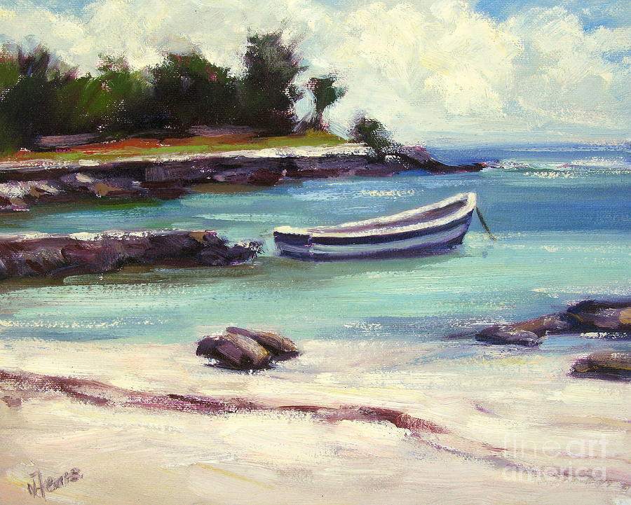 Beach Painting - Mexico Beach by Vickie Fears