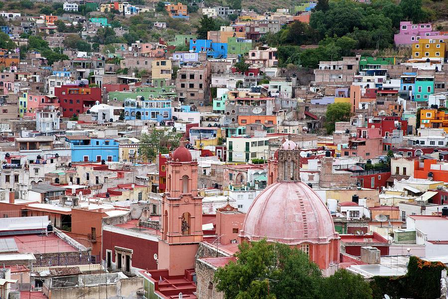 Architecture Photograph - Mexico, Guanajuato, View Of Guanajuato by Hollice Looney