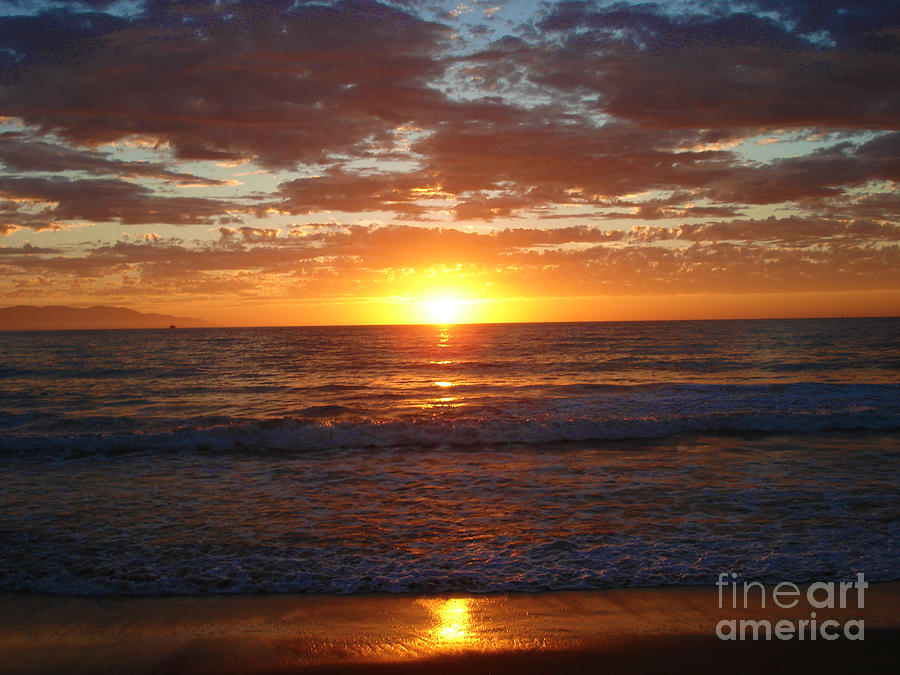 Ocean Photograph - Mexico Sunset by Crystal Joy Photography