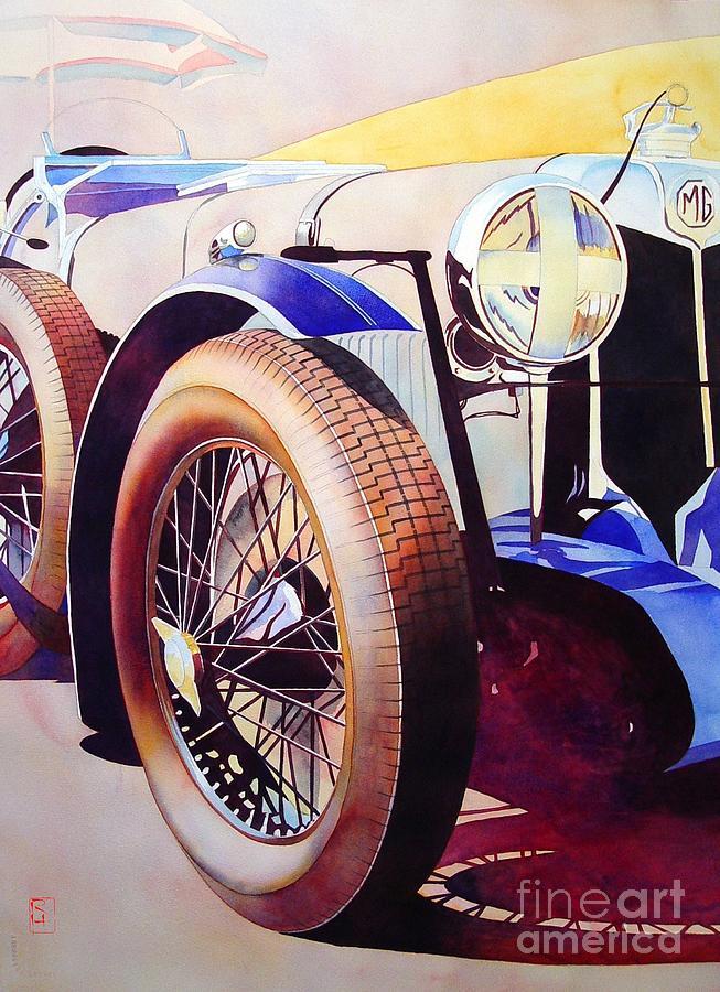 Watercolor Painting - MG by Robert Hooper