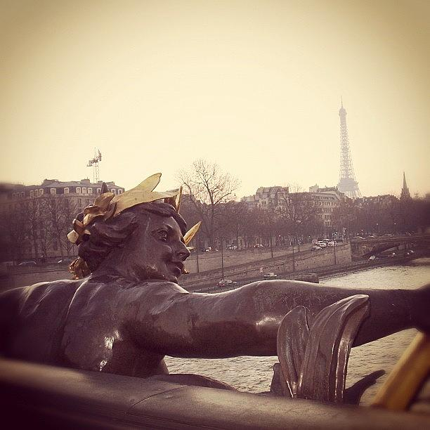 Bridge Photograph - #mgmarts #france #paris #statue #bridge by Marianna Mills