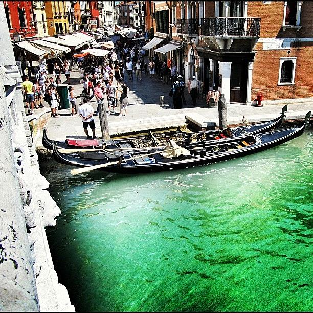 Europe Photograph - #mgmarts #venice #italy #europe #canal by Marianna Mills