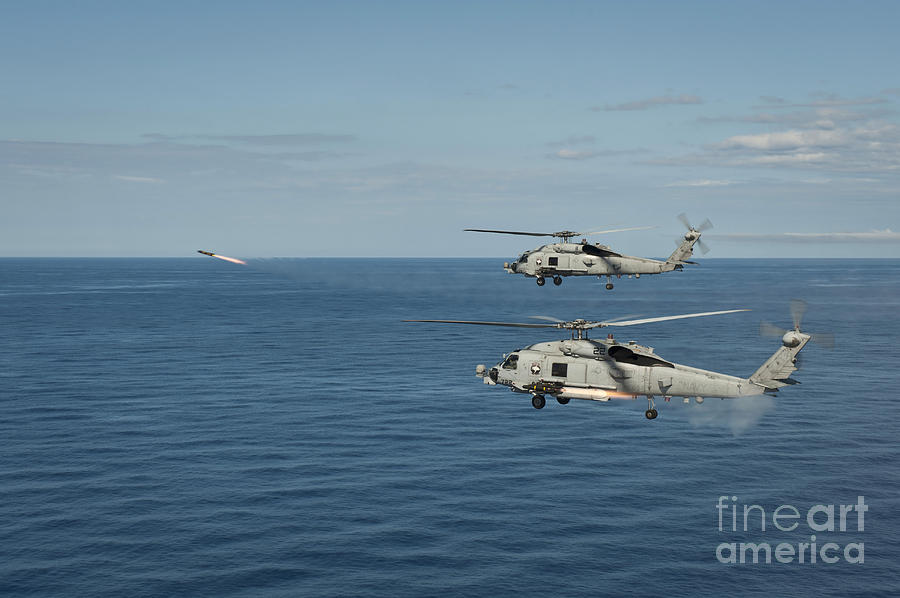 Mh-60r Sea Hawk Helicopters Launch Photograph