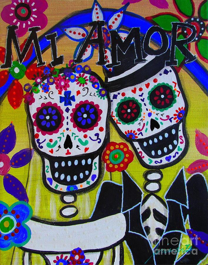 Mi Amor Dia De Los Muertos Wedding Painting By Pristine