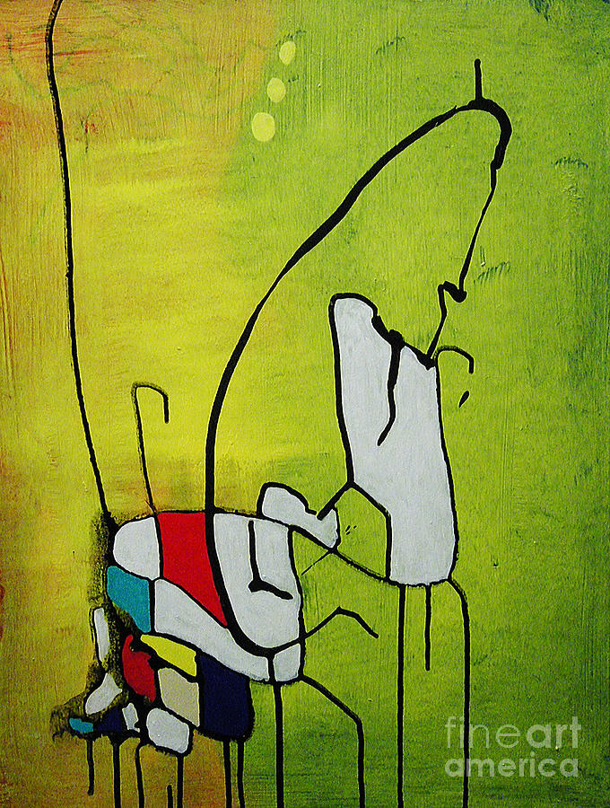 Abstract Painting - Mi Caballo by Jeff Barrett