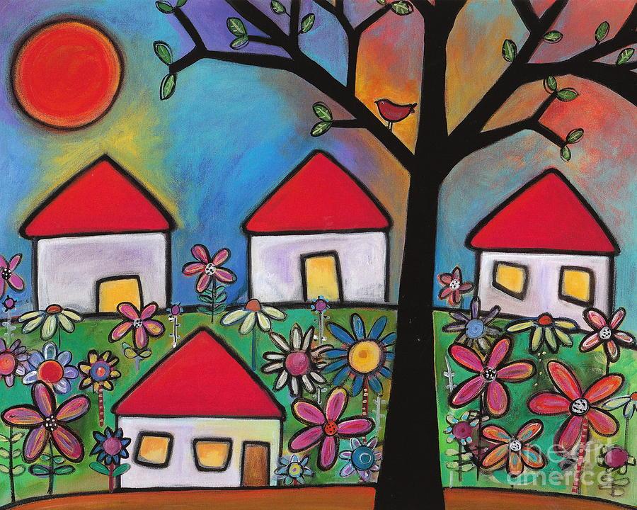 Houses Painting - Mi Casa Es Su Casa by Carla Bank