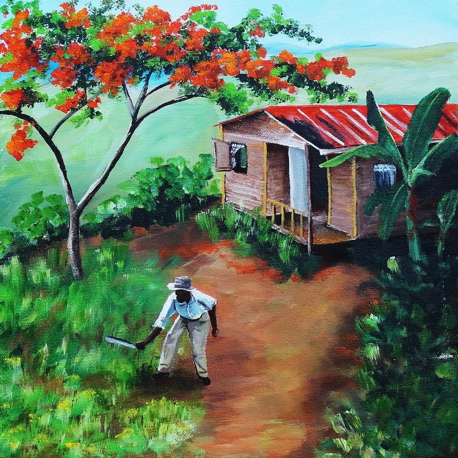 Mi Flamboyan Painting By Migdalia Bahamundi