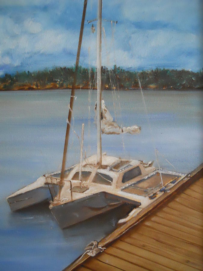 Lake  Painting - Mi Joy by Joyce Reid