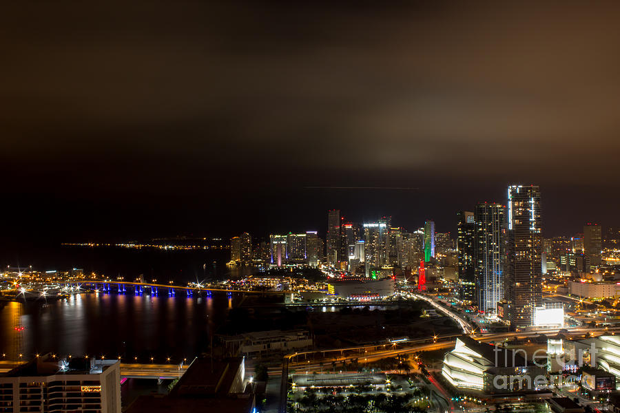 Architecture Photograph - Miami After Dark by Rene Triay Photography