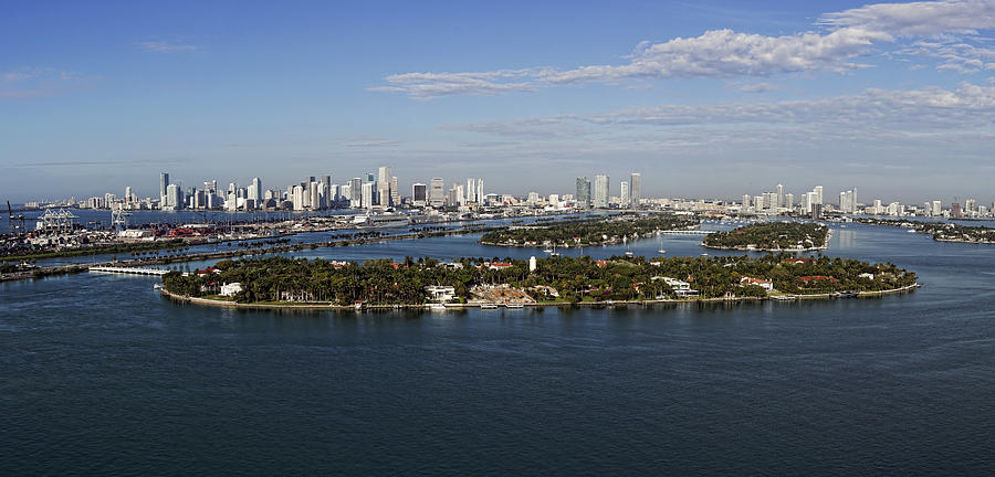 Miami and Star Island Skyline by Gary Dean Mercer Clark