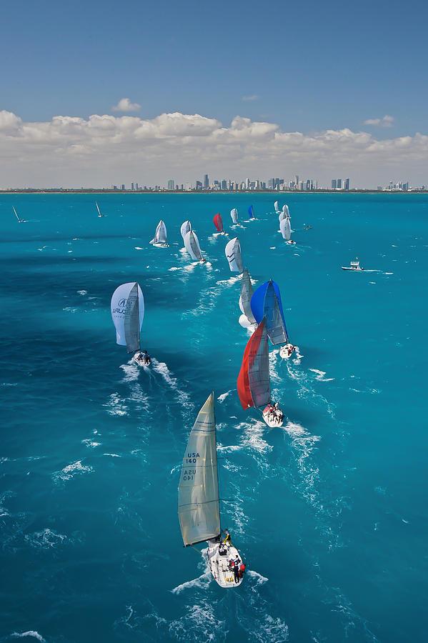 Regatta Photograph - Miami Beach Regatta by Steven Lapkin