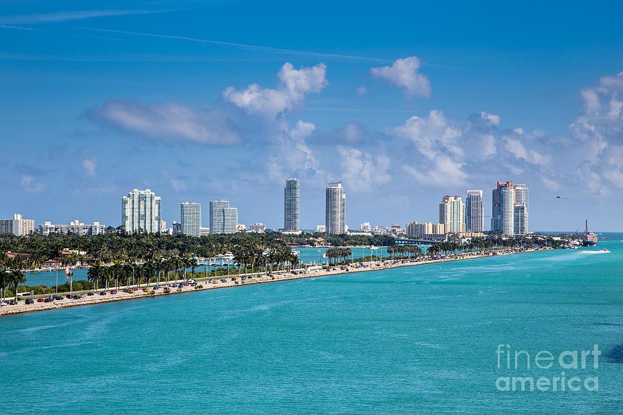 Miami Beach Skyline Photograph - Miami Beach Skyline by Rene Triay Photography