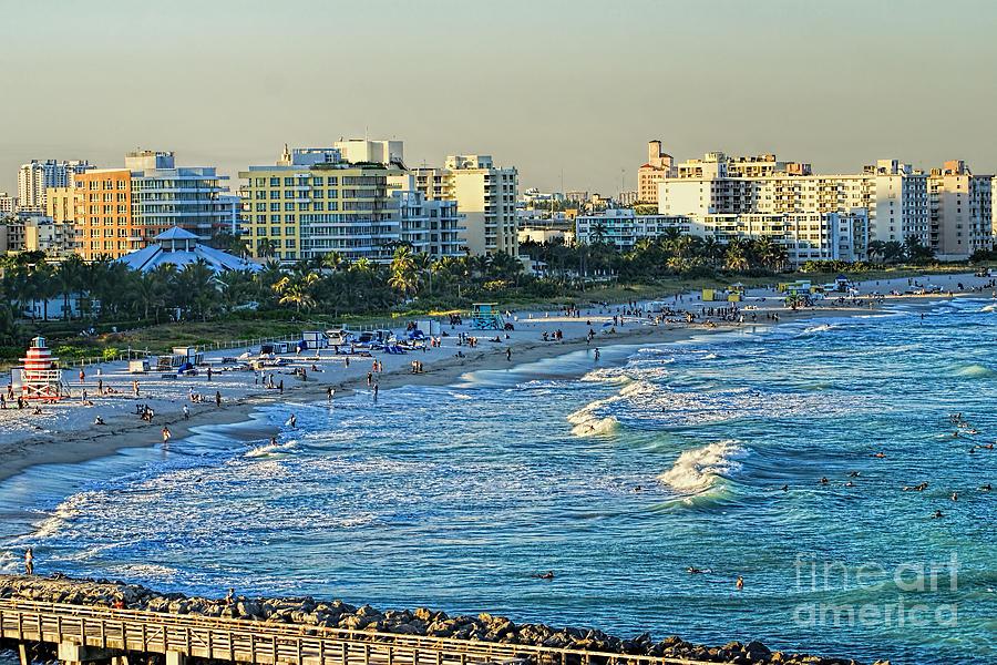 Miami Photograph - Miami Beach Sunset by Olga Hamilton