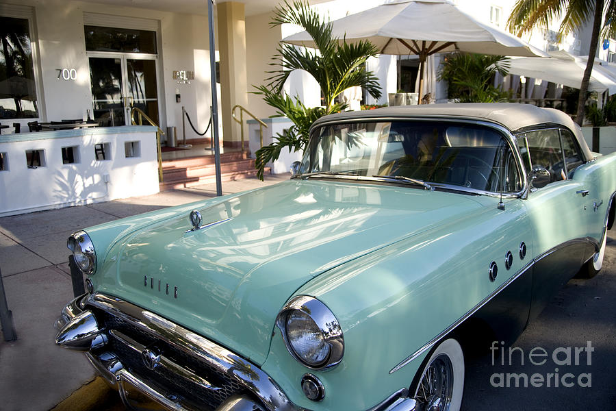 Miami Beach Classic Car Photograph by Thomas Levine