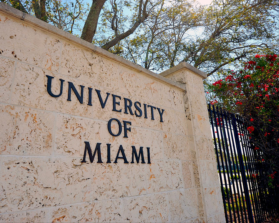 Miami Photograph - Miami Campus Sign In Spring by Replay Photos