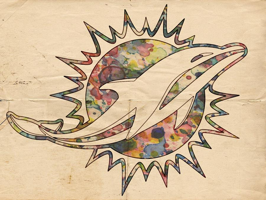 Miami dolphins vintage logo painting by florian rodarte miami dolphins painting miami dolphins vintage logo by florian rodarte voltagebd Gallery