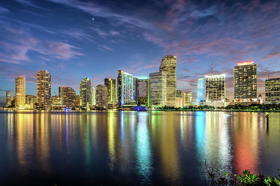 Miami Florida Photograph by Sky Noir Photography By Bill Dickinson