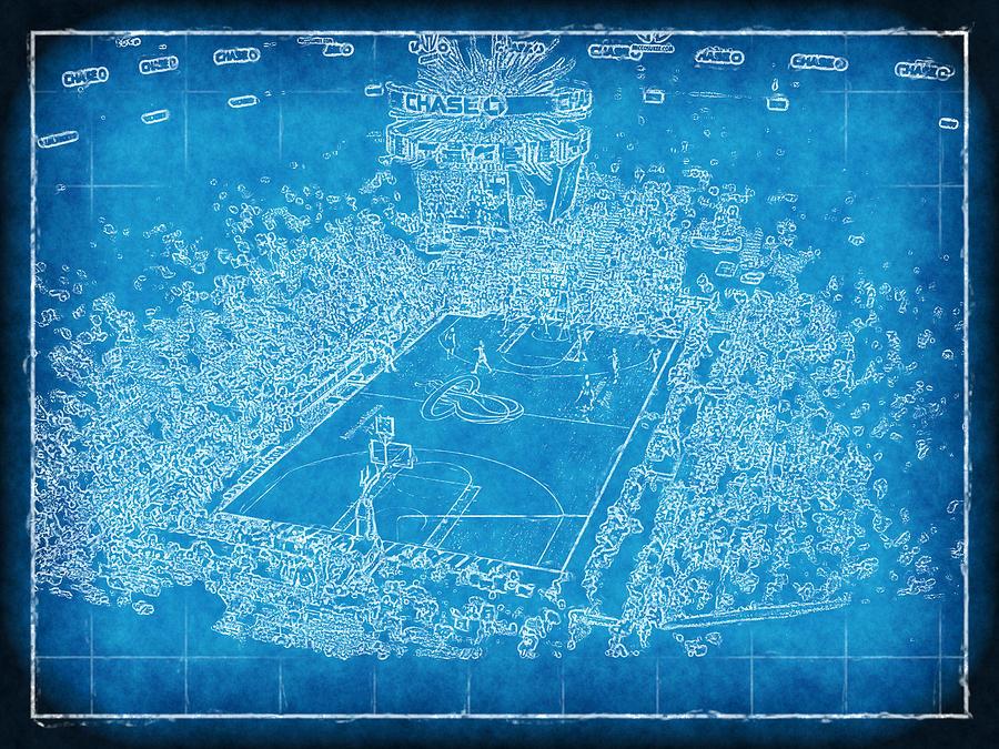 Blueprint Photograph - Miami Heat Arena Blueprint by Joe Myeress