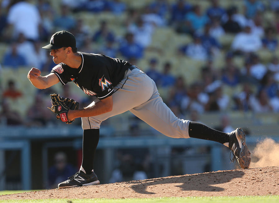 Miami Marlins v Los Angeles Dodgers Photograph by Stephen Dunn