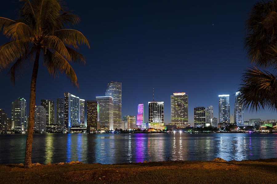 Miami Skyline Photograph By Domenik Studer