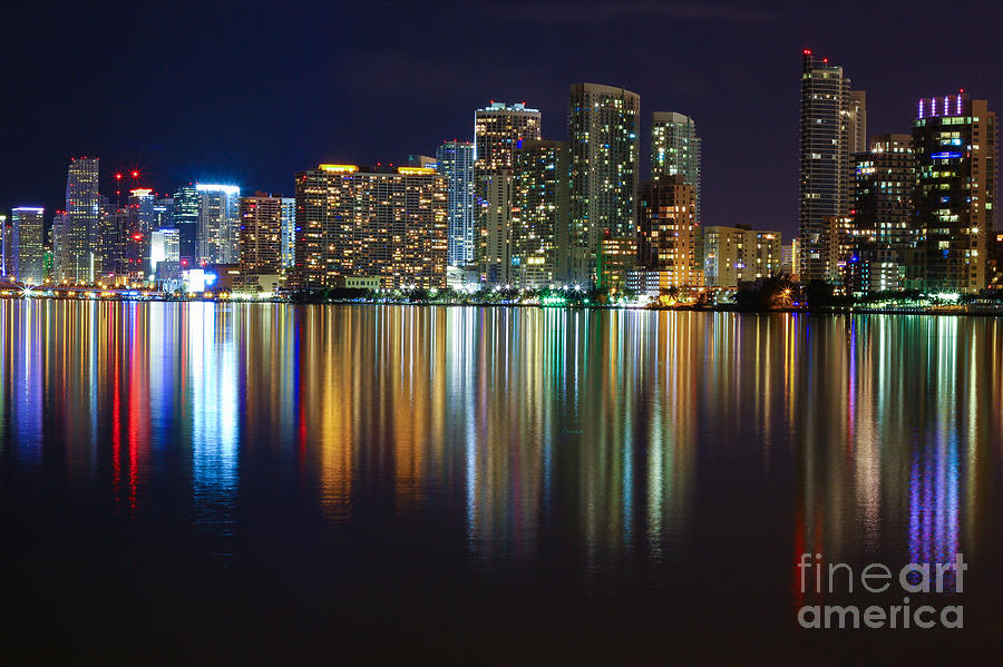 Architecture Photograph - Miami Skyline IIi High Res by Rene Triay Photography