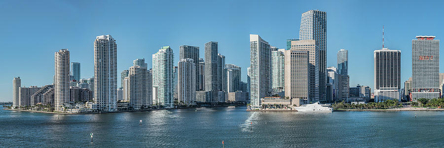 Horizontal Photograph - Miami Skyline, Miami-dade County by Panoramic Images