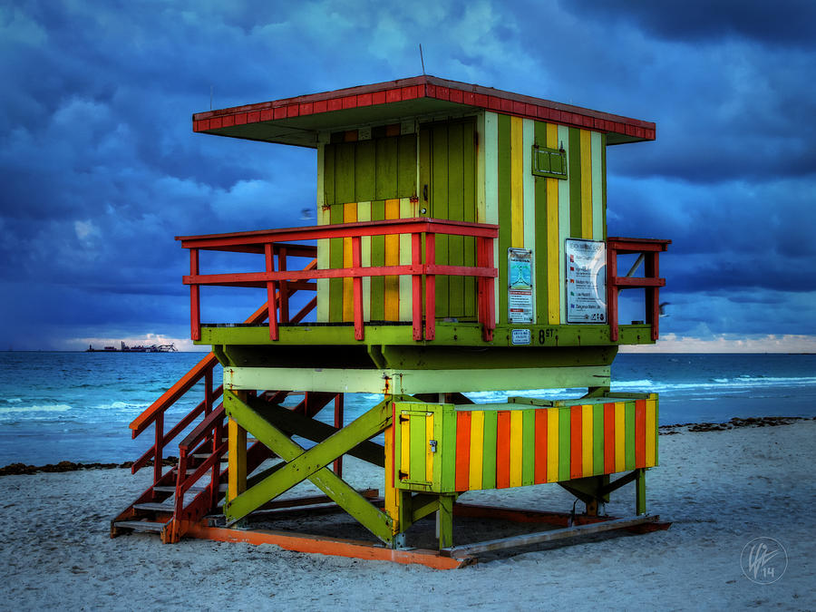 Miami - South Beach Lifeguard Stand 006 by Lance Vaughn