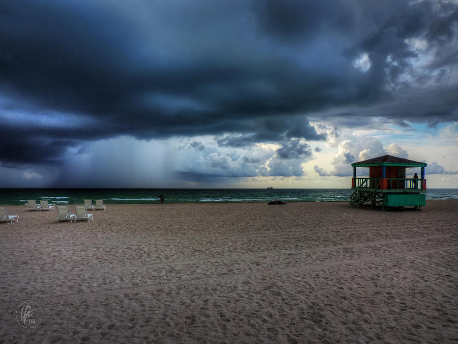 Miami Photograph - Miami - South Beach Storm 002 by Lance Vaughn