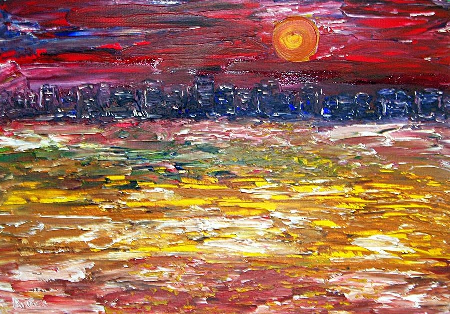 Miami Painting - Miami Sunset by Anthony Fox