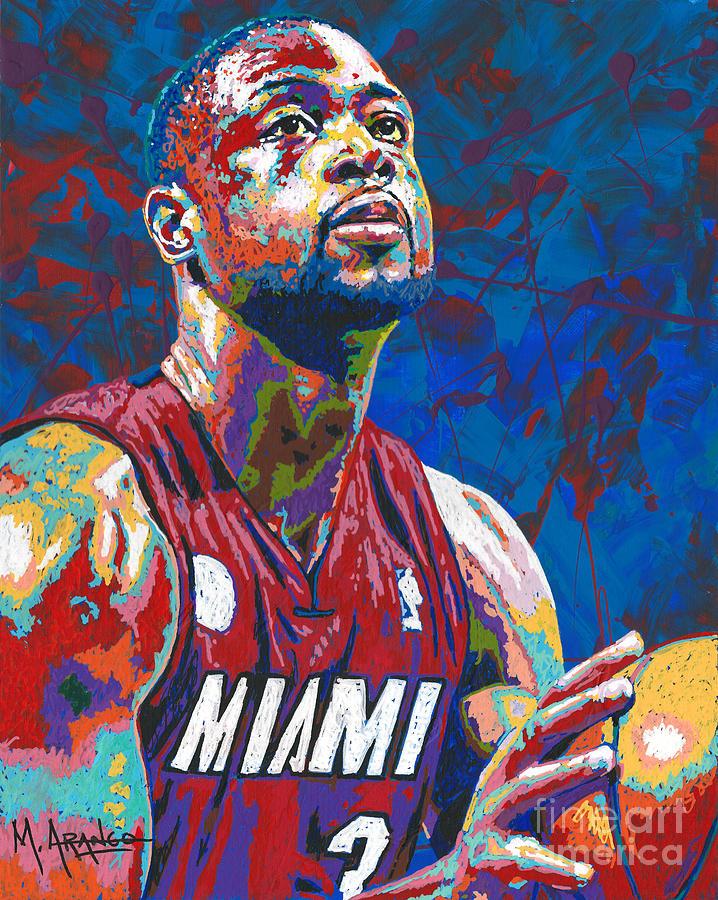 Dwyane Wade Painting - Miami Wade by Maria Arango