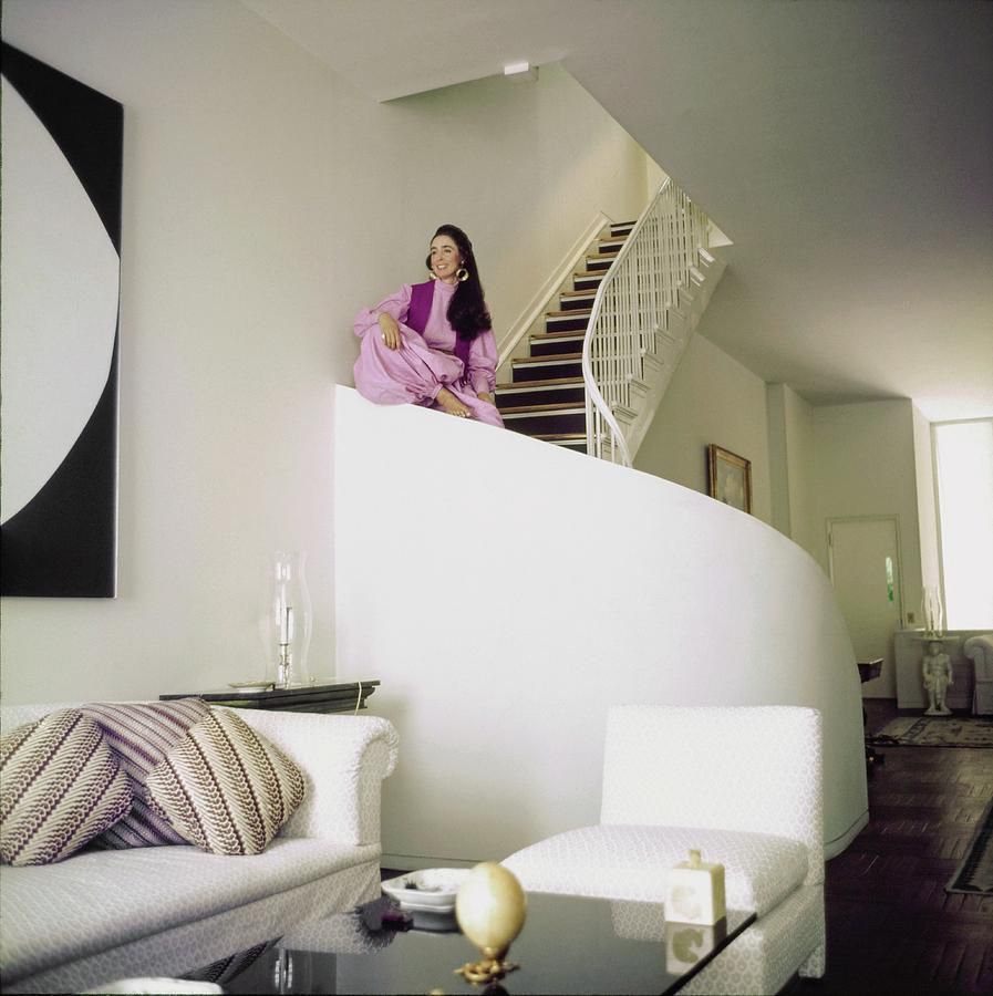 Mica Ertegun At Home Photograph by Horst P. Horst