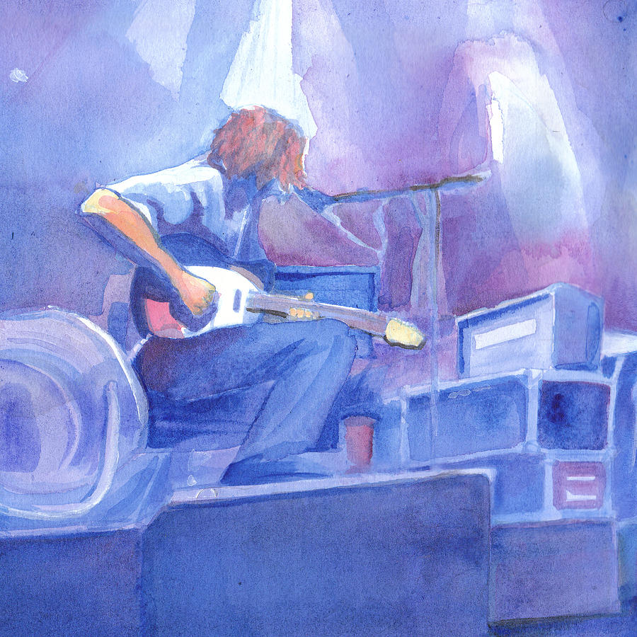 Michael Houser Painting - Michael Houser From Widespread Panic by David Sockrider