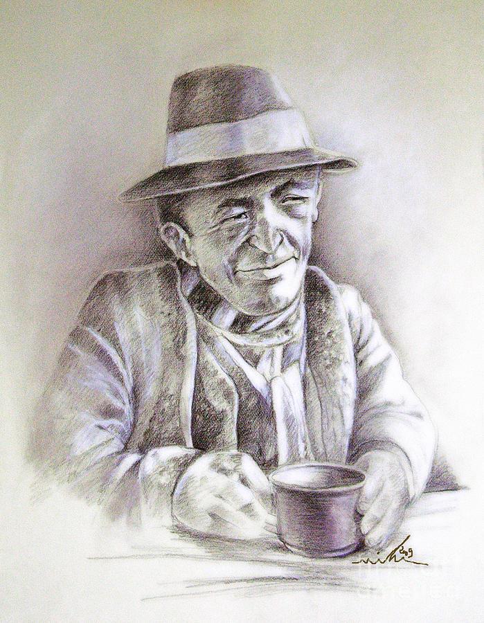 Pastel Portrait Painting - Michael J Anderson by Miki De Goodaboom