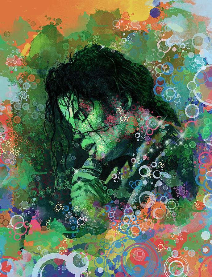 Michael Jackson Painting - Michael Jackson 15 by Bekim M