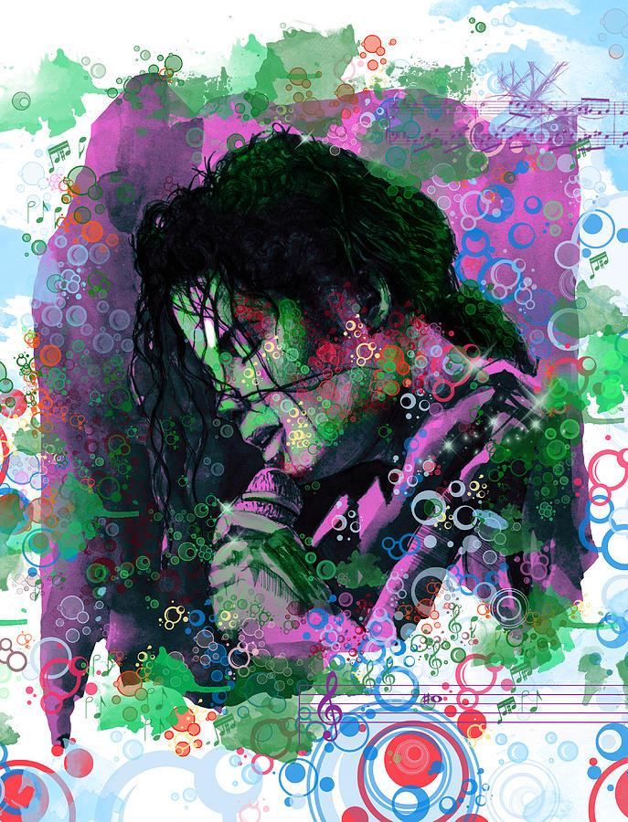 Michael Jackson Painting - Michael Jackson 16 by Bekim Art