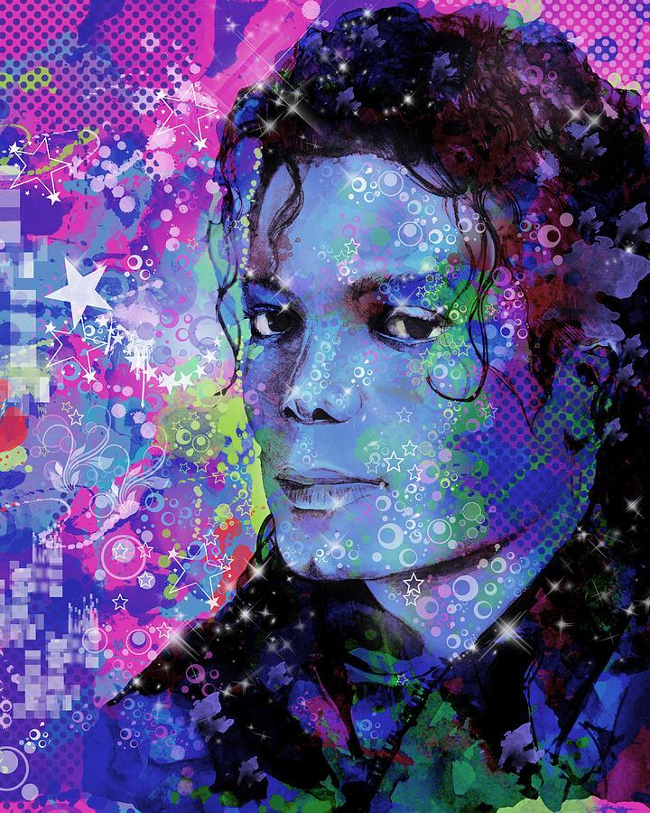 Michael Jackson Painting - Michael Jackson 17 by Bekim Art