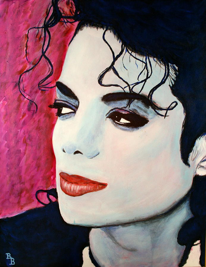 Michael Jackson Painting - Michael Jackson Art - Full Color by Bob Baker
