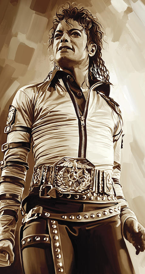 Michael Jackson Paintings Painting - Michael Jackson Artwork 2 by Sheraz A