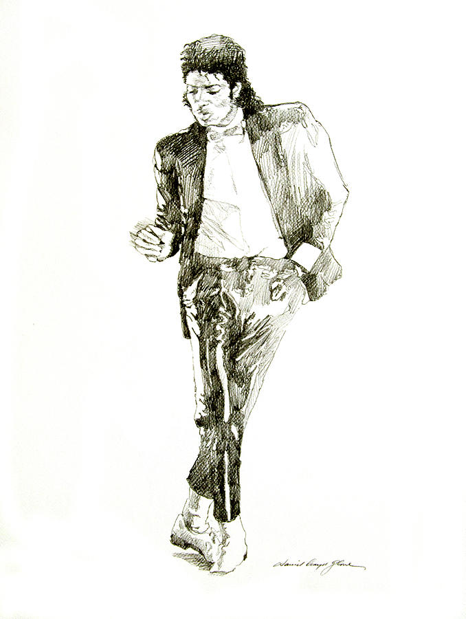 Michael Jackson Drawing - Michael Jackson Billy Jean by David Lloyd Glover