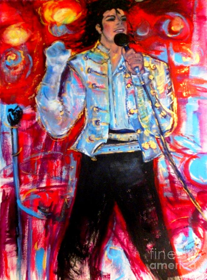 Michael Jackson Painting - Michael Jackson Ill Be There by Helena Bebirian