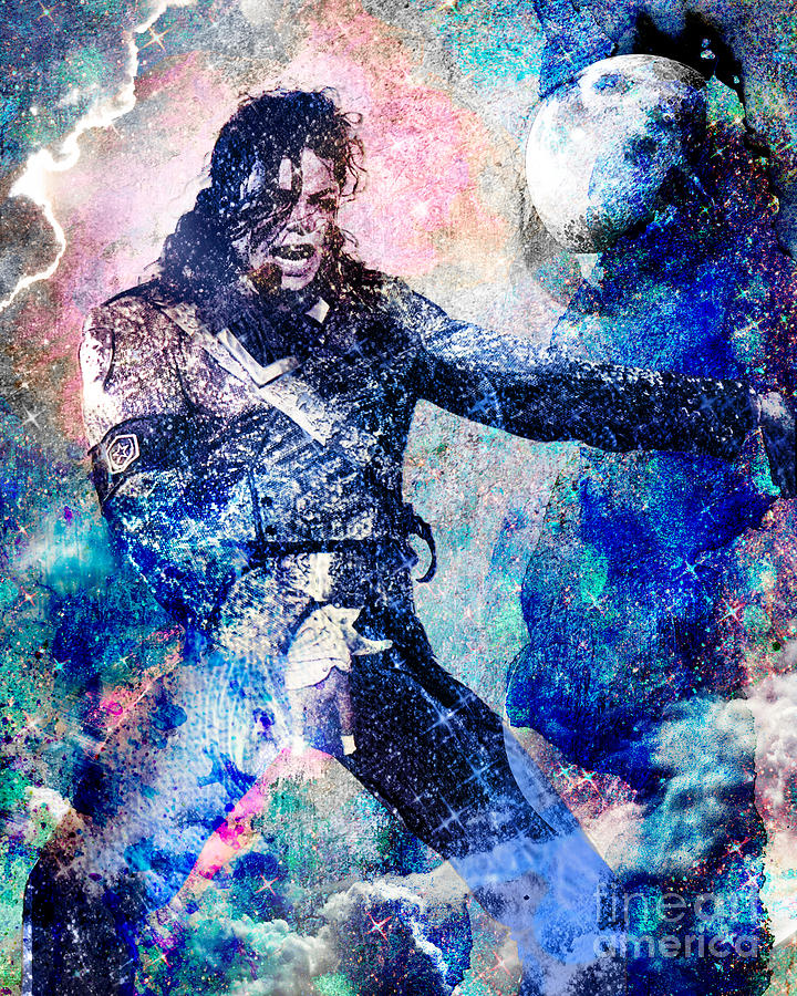 Rock Painting - Michael Jackson Original Painting  by Ryan Rock Artist