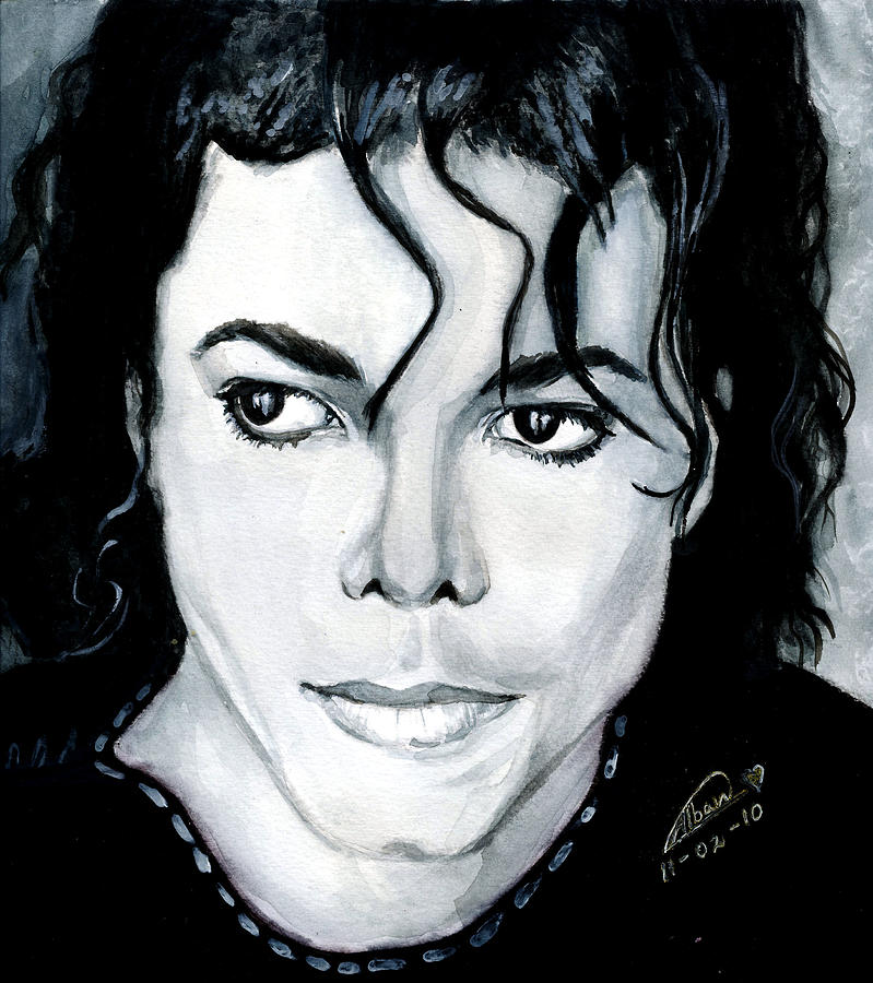 Michael Jackson Painting - Michael Jackson Portrait by Alban Dizdari