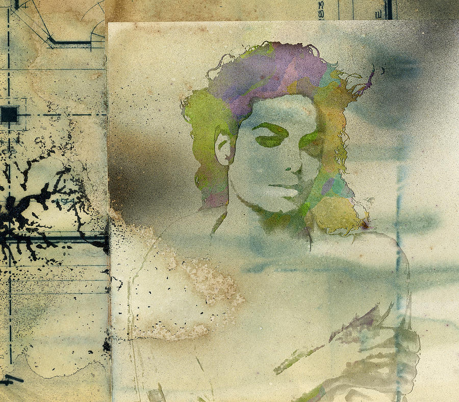 Feature Digital Art - Michael Jackson Silhouette by Paulette B Wright