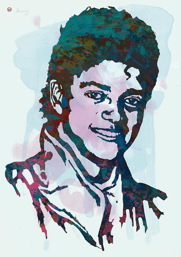 Portraits Drawing - Michael Jackson stylised pop art poster by Kim Wang
