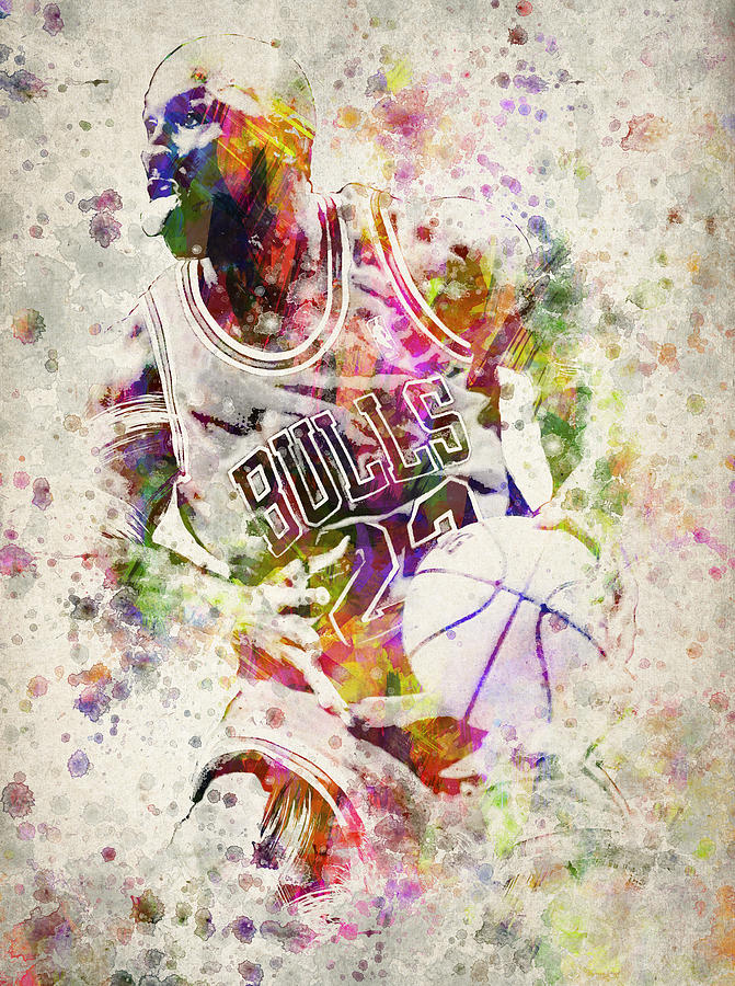 Michael Jordan Drawing - Michael Jordan by Aged Pixel