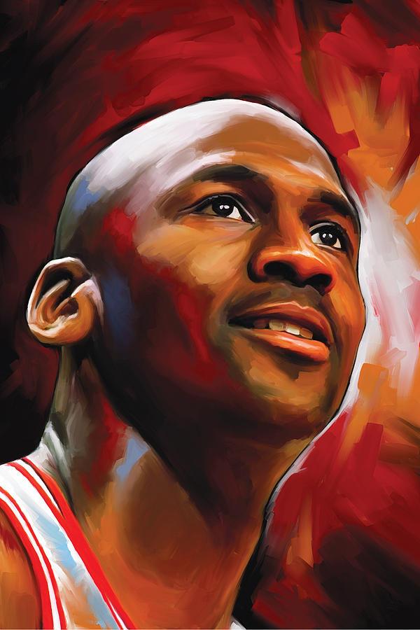 Nba Painting - Michael Jordan Artwork 2 by Sheraz A