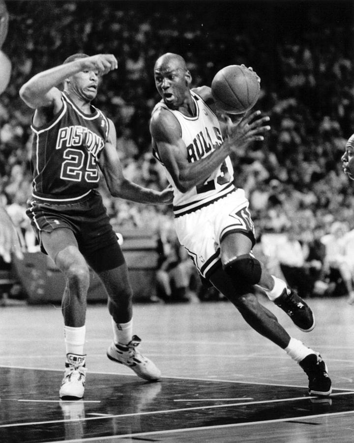 Classic Photograph - Michael Jordan Driving To The Basket by Retro Images Archive