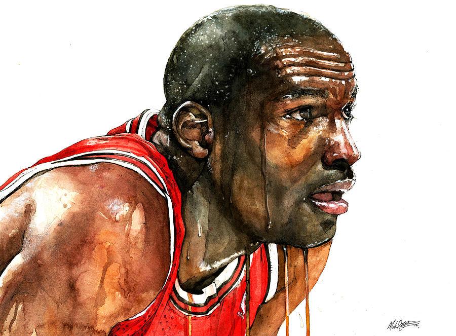 Michael Painting - Michael Jordan Early Days by Michael  Pattison